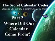 Secret Calendar Codes 2 of 7