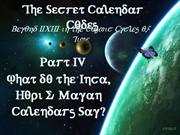 Secret Calendar Codes 4 of 7