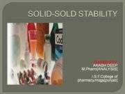 Solid-solid stability-Akash