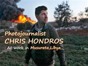 Photojournalist CHRIS HONDROS -At work in Misurata-Libya