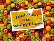 Diet Plan For Weight Loss