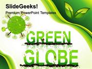 NATURE GO GREEN GLOBE PPT TEMPLATE