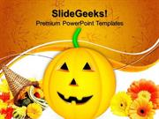 PUMPKIN AUTUMN NATURE POWERPOINT TEMPLATE