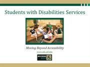 Students with Disabilities Services at USF