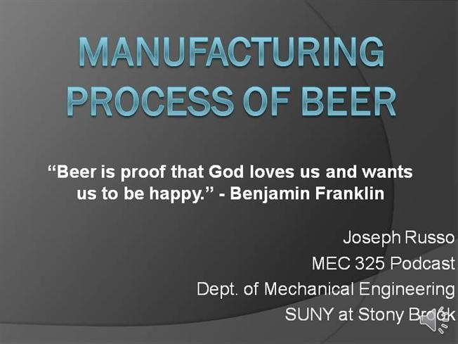Manufacturing Process of Beer |authorSTREAM