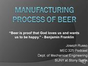 Manufacturing Process of Beer