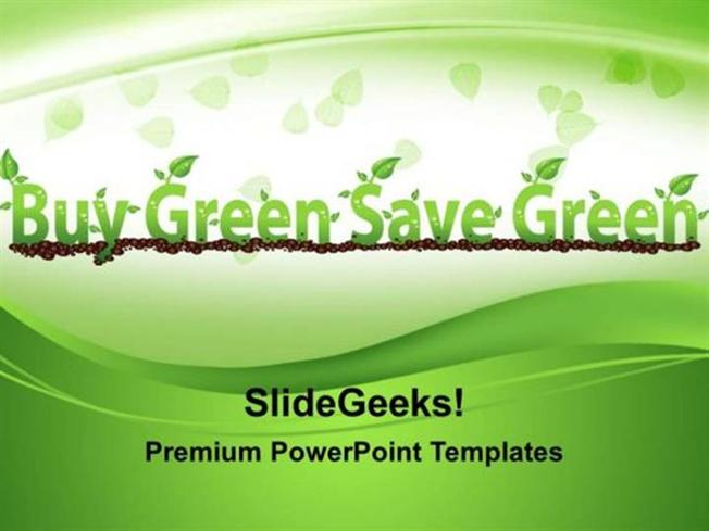 Green energy buy green save green environment ppt template related powerpoint templates toneelgroepblik Gallery
