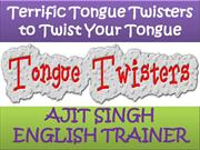 Terrific Tongue Twisters to Twist Your Tongue