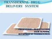 TRANSDERMAL DRUG DELIVERY SYSTEM