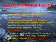 ecological succesion n ecosystem regulation