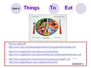 Let's Go 2 - Unit 4 - Things to Eat