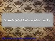 Several Ideas for Your Budget Wedding