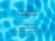 Mini lesson presentation
