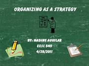 organizing as a strategy