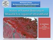 Status  of Faunal Diversity in Shiwalik Eco- region [Autosaved]
