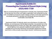 Apartments Dublin CA - Pioneering the Comfort of Resort-Style Living