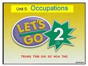Let's Go 2 - Unit 5 - Occupations