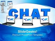 INFORMATION TECHNOLOGY CHAT CONNECTION INTERNET PPT TEMPLATE