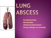 Lung  abscess.ppt