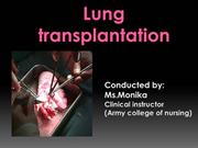 Lung transplantation.ppt