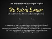 Total Business Exposure - Why You Need an Online Presence