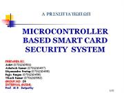 microcontroller based smart card security system
