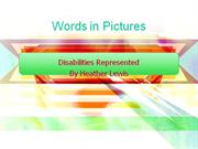 SED 401 Words in Pictures