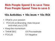 Rich People Spend $ to save Time