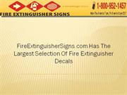 FireExtinguisherSigns Has Largest Selection of Fire Extinguisher signs
