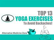 top 13 yoga exercises to avoid backaches!
