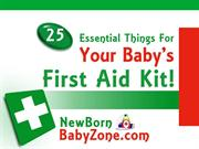 25 essential things for your baby's first aid kit!