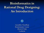 LECTURE--Bioinformatics in Rational Drug Designing