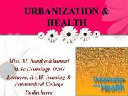 Urbanization and Health