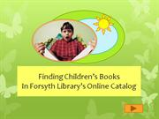 Finding Children's Books