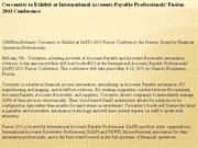corcentric to exhibit at international accounts payable professionals'