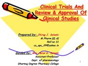 Clinical trial by chirag