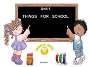 Let's Go 1 - Unit 1 - Things for school