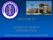 Church_Announcements for Dominion Church International