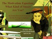 The Motivation Equation Action Research Presentation
