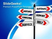 ROAD SIGNS SERVICE SUPPORT ASSISTANCE PPT TEMPLATE