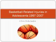 Basketball-Related Injuries in Adolescents 1997-2007