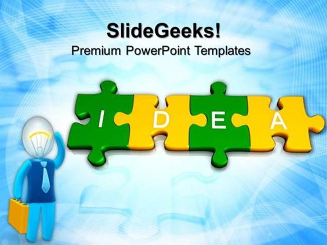 Jigsaw puzzles 3d jigsaw puzzle pieces with idea business ppt related powerpoint templates toneelgroepblik Choice Image