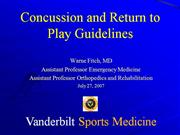 Hot Topics in Sports Concussion
