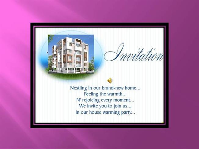 House warming ceremony invitation authorstream m4hsunfo