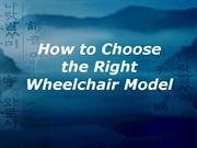 how to choose the right wheelchair model