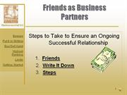 Friends as Business Partners