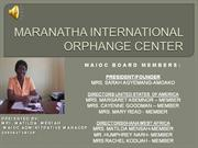 Maioc Orphange Video Slide