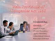 Main Provisions of Companies Act 1956