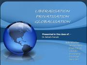 LIBERSATION  PRIVATISATION GLOBALISATION