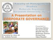 Presentation on CORPORATE GOVERENCE